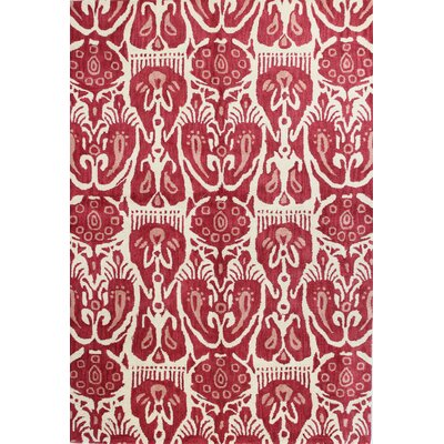 Ashland Ivory/Red Area Rug Rug Size: Runner 26 x 8