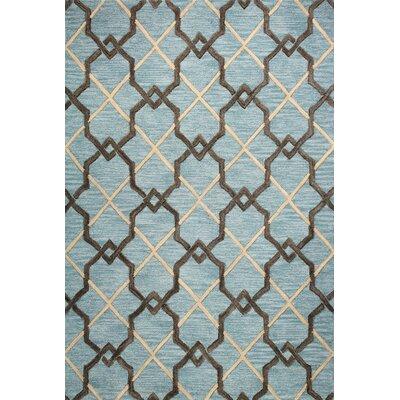 Rajapur Light Blue Rug Rug Size: 5 x 76