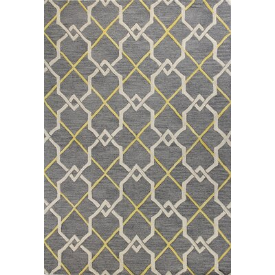 Rajapur Grey Area Rug Rug Size: Rectangle 7 x 9