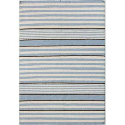 Rockport Ivory/Blue Area Rug Rug Size: 76 x 96