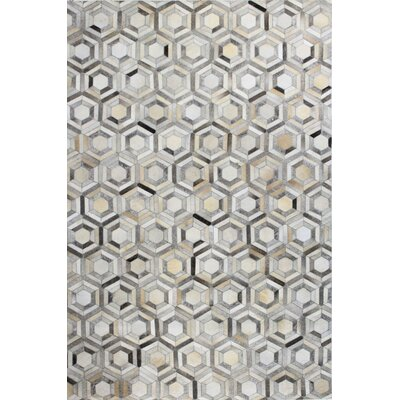 Tuscon Geometric Grey Area Rug Rug Size: Rectangle 8 x 10