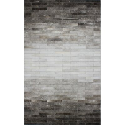 Dahill Hand-Woven Gray Area Rug Rug Size: Rectangle 4 x 6