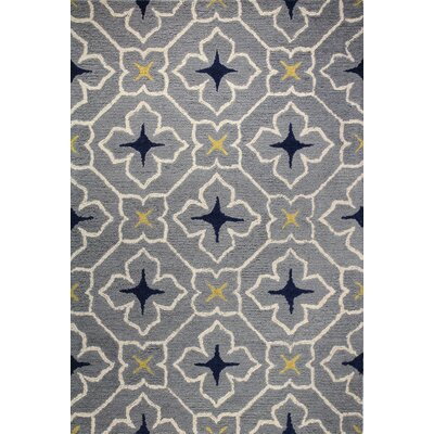 Rajapur Grey Area Rug Rug Size: Rectangle 5 x 76