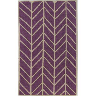 Girardville Lilac Area Rug Rug Size: 5 x 76