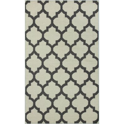 Rockport Ivory/Grey Area Rug Rug Size: Rectangle 36 x 56
