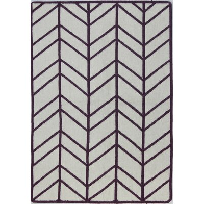 Rockport Ivory & Lilac Area Rug Rug Size: Rectangle 76 x 96