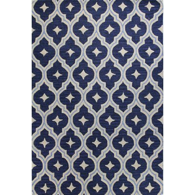 Norbert Hand-Tufted Navy Area Rug Rug Size: Rectangle 36 x 56