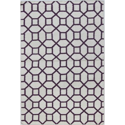 Rockport Ivory/Lilac Area Rug Rug Size: Rectangle 5 x 76