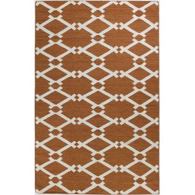 Rockport Rust Area Rug Rug Size: 86 x 116