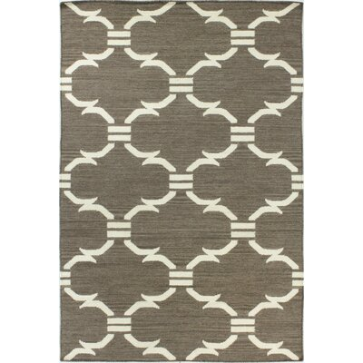 Rockport Taupe Area Rug Rug Size: 86 x 116
