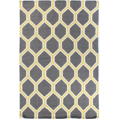 Rockport Gray Area Rug Rug Size: 36 x 56