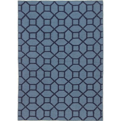 Rockport Blue Area Rug Rug Size: 76 x 96
