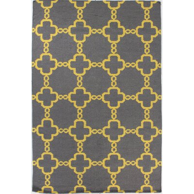 Rockport Grey Area Rug Rug Size: 5 x 76