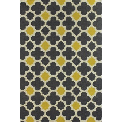 Rockport Grey/Gold Area Rug Rug Size: 5 x 76
