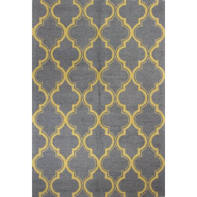 Rajapur Grey & Gold Area Rug Rug Size: 7 x 9