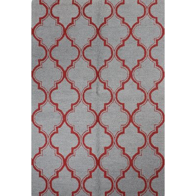 Rajapur Grey/Red Area Rug