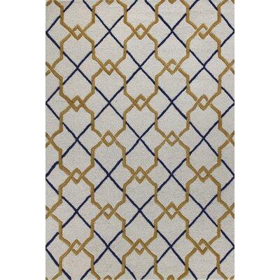 Rajapur Geometric Ivory Area Rug Rug Size: 7 x 9