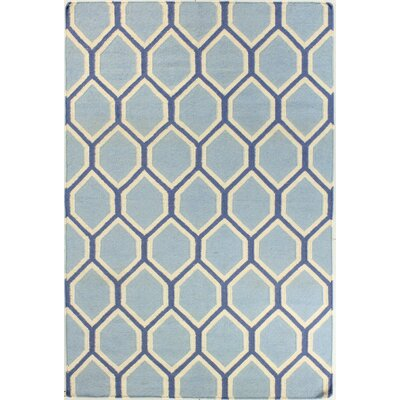 Rockport Light Blue Area Rug Rug Size: Runner 26 x 8