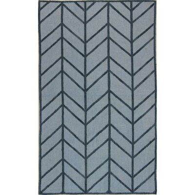 Rockport Light Blue Area Rug Rug Size: 76 x 96