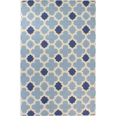 Rockport Hand Woven Wool Light Blue Area Rug Rug Size: Runner 26 x 8