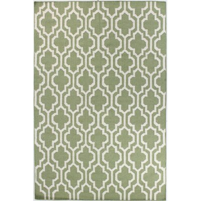 Rockport Light Green Area Rug Rug Size: 3'6