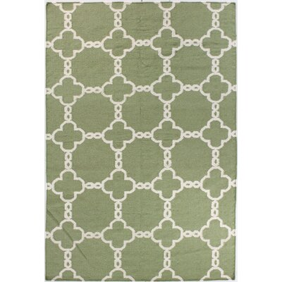 Rockport Light Green Area Rug Rug Size: 76 x 96