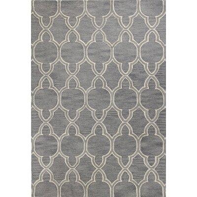 Octavia Hand-Tufted Grey Area Rug Rug Size: 36 x 56