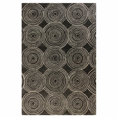 Bryden Charcoal Area Rug Rug Size: 76 x 96