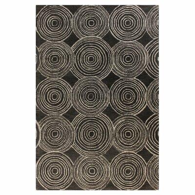 Bryden Charcoal Area Rug Rug Size: 86 x 116