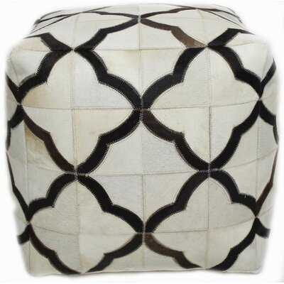 Mayfair Pouf Ottoman Upholstery: Ivory