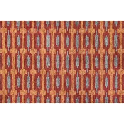 Seville Red Area Rug Rug Size: Rectangle 36 x 56