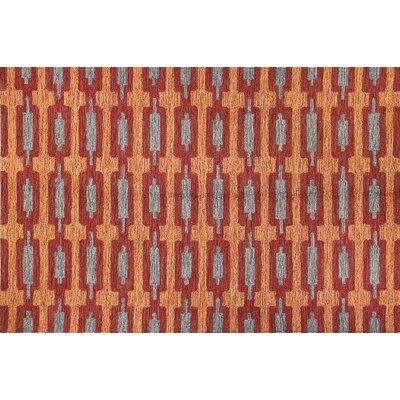 Seville Red Area Rug Rug Size: 76 x 96