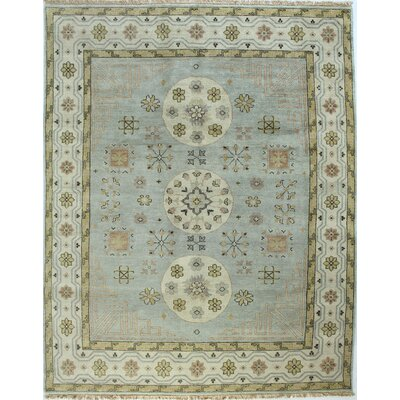 Charleston Light Blue Area Rug Rug Size: 59 x 89