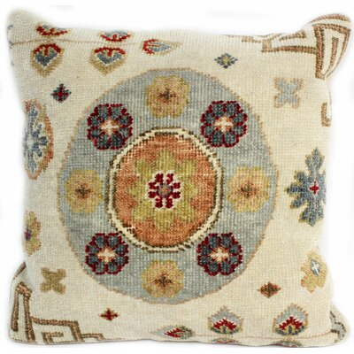 Ridgewood Throw Pillow Size: 24 H x 24 W x 0.75 D, Color: Ivory/Blue