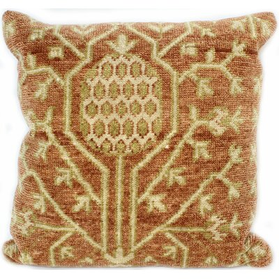 Ridgewood Throw Pillow Size: 18 H x 18 W x 0.75 D, Color: Rust