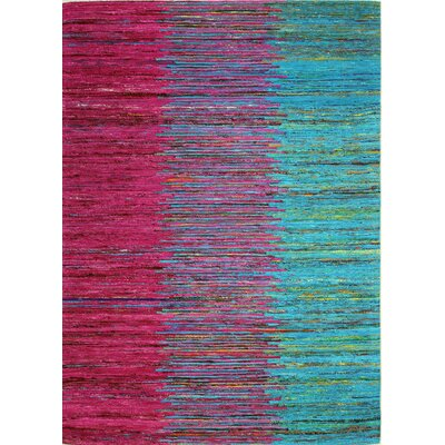 Bohemian Red/Blue Area Rug Rug Size: 76 x 96