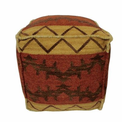 Tuscon Pouf Upholstery: Rust