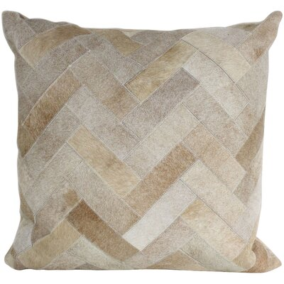 Dakota Hair Throw Pillow Size: 18 H x 18 W, Color: Beige