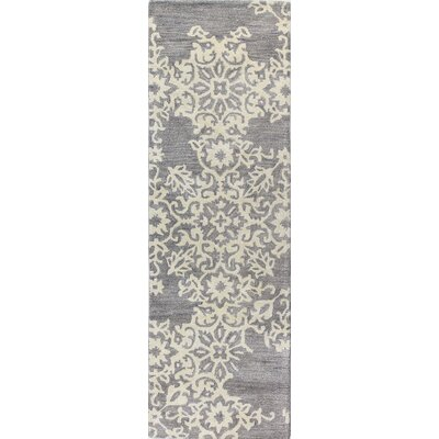 Lierre Hand-Tufted Grey Area Rug Rug Size: Runner 26 x 8