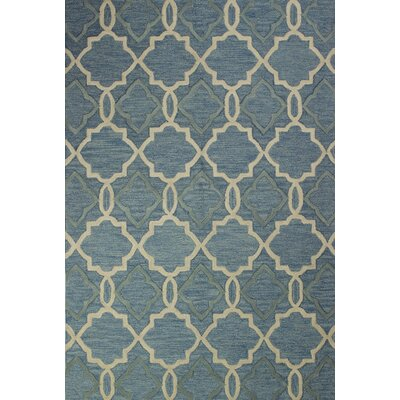Sharpsburg Hand-Tufted Light Blue Area Rug Rug Size: 76 x 96