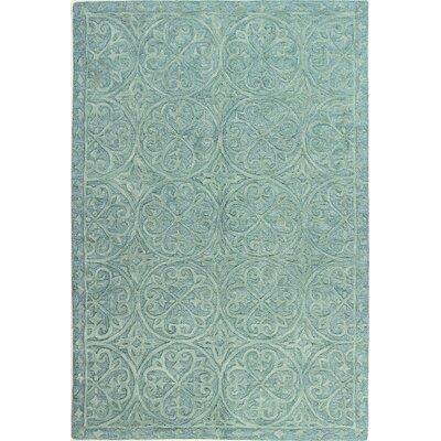 Arnott Hand-Tufted Teal Area Rug Rug Size: 86 x 116