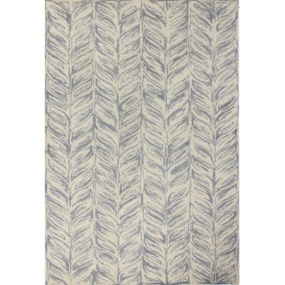 Luckett Hand-Tufted Ivory/Grey Area Rug Rug Size: Rectangle 5 x 76
