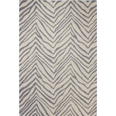 Ludlum Hand-Tufted Ivory/Grey Area Rug Rug Size: Rectangle 76 x 96