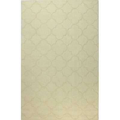 Lierre Hand-Woven Ivory Area Rug Rug Size: Rectangle 76 x 96