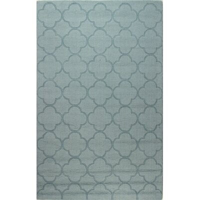 Lierre Hand-Woven Light Blue Area Rug Rug Size: Rectangle 76 x 96