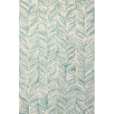 Luckett Hand-Tufted Ivory/Aqua Area Rug Rug Size: Rectangle 7 x 9