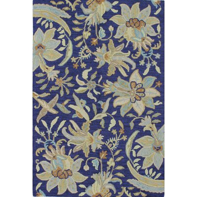 Kirkland Hand-Tufted Navy Area Rug Rug Size: Rectangle 5 x 76