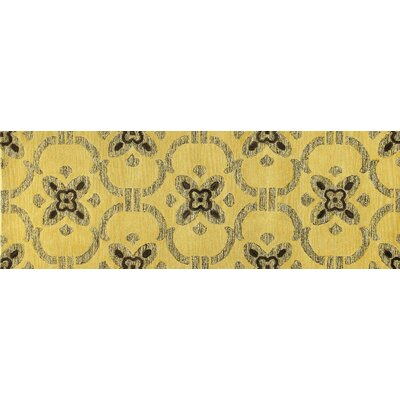 Manorville Gold Area Rug Rug Size: Runner 26 x 8
