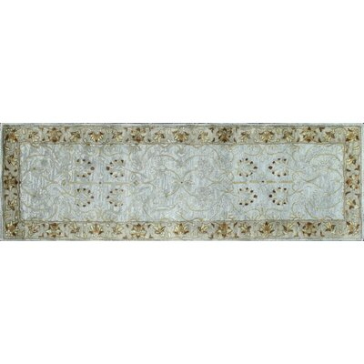Essex Light Blue Area Rug Rug Size: Runner 26 x 8