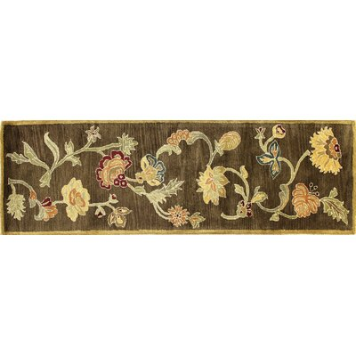 Essex Chocolate Area Rug Rug Size: Runner 26 x 8